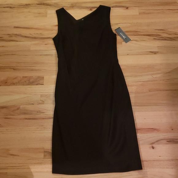 Dkny Dresses & Skirts - NEW! DKNY Black Asymmetrical Midi Dress